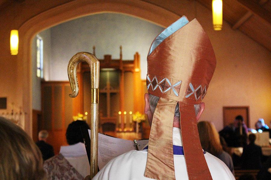 Bishop in his mitre