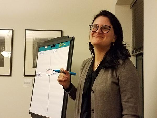 Dana Santa Cruz leading theological reflection