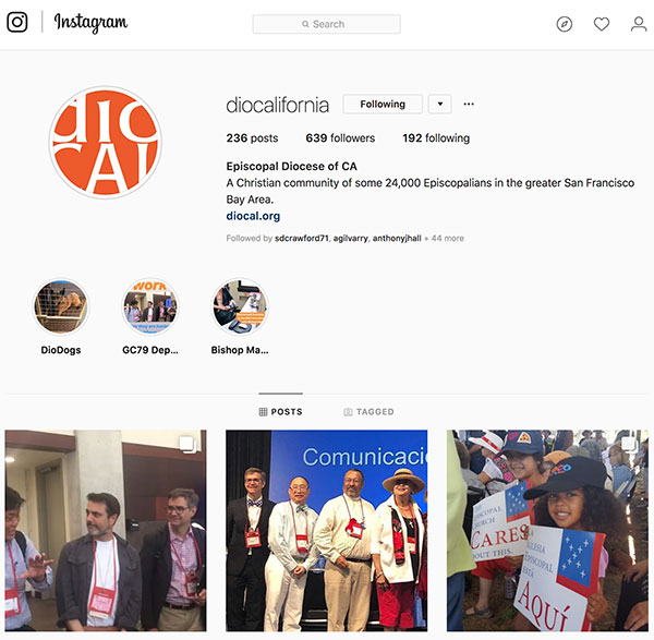 Screen capture of DioCal's Instagram page