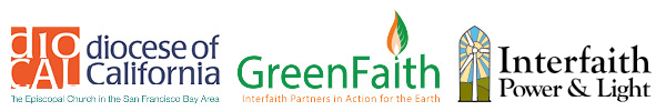 Episcopal Diocese of California, Green Faith, and Interfaith Power and Light Logos